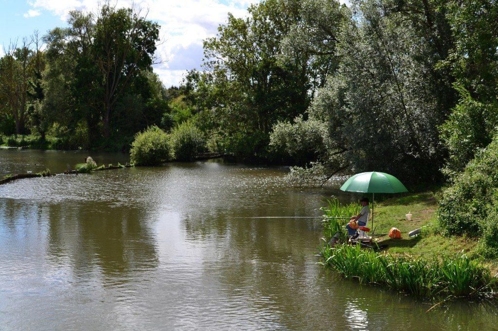 pêcheur en été vivier omignon