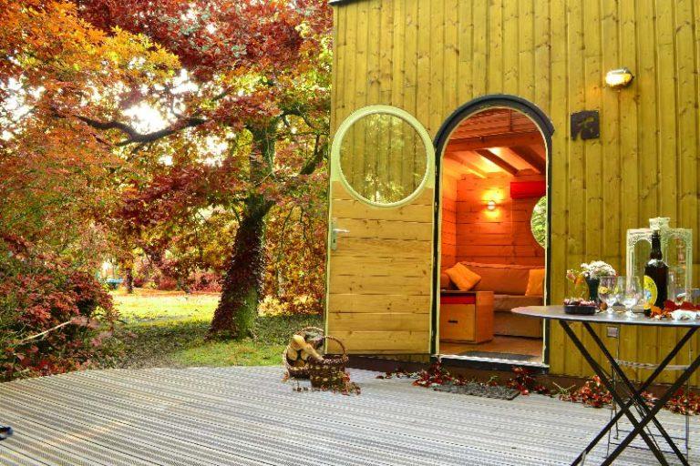 weekend amoureux dans un carré d'étoiles avec sauna