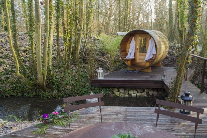 sauna privatif au bord de l'eau