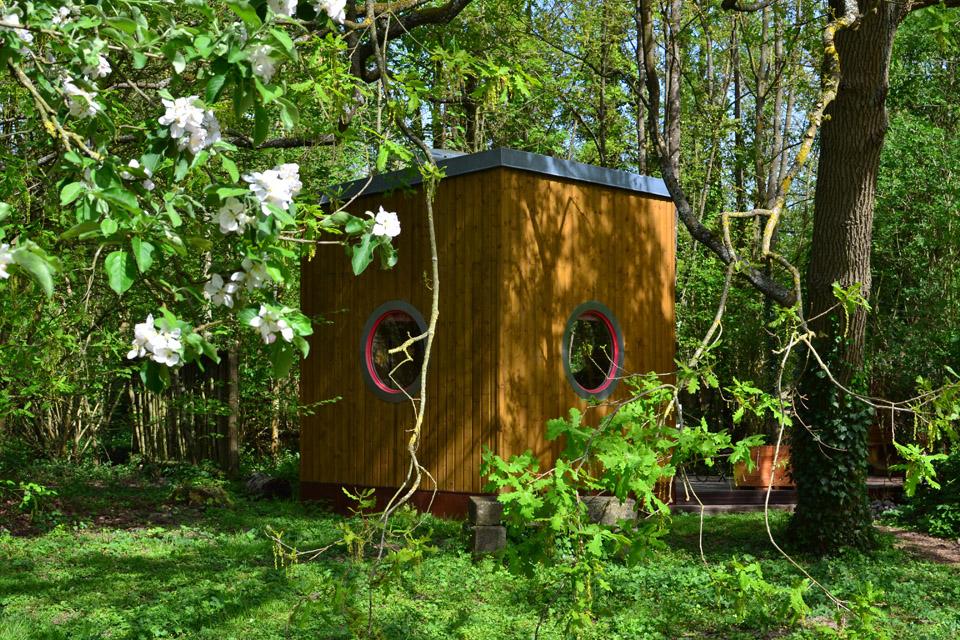 weekend nature cabane carré d'étoiles arbre chêne