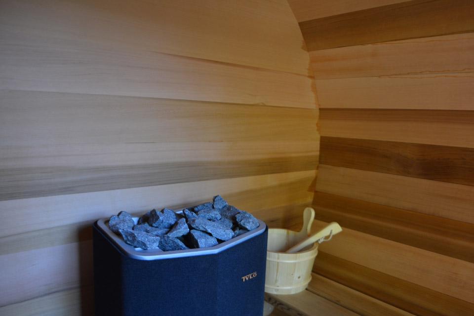 intérieur du sauna privatif