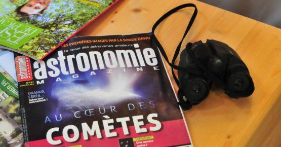 astronomie magazine à La Maison de l'Omignon séjour voir la lune et les étoiles
