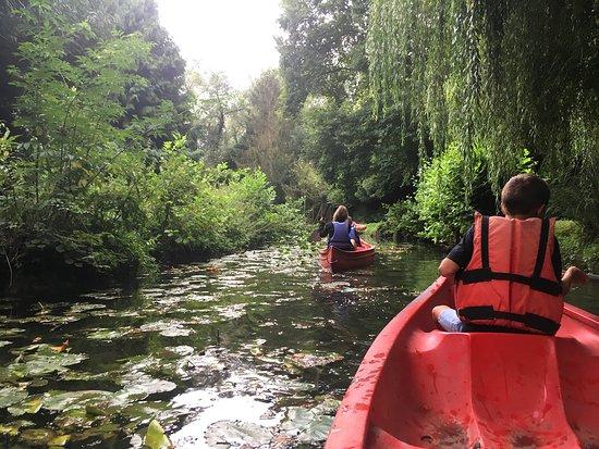 canoe en amoureux dans le nord de la France