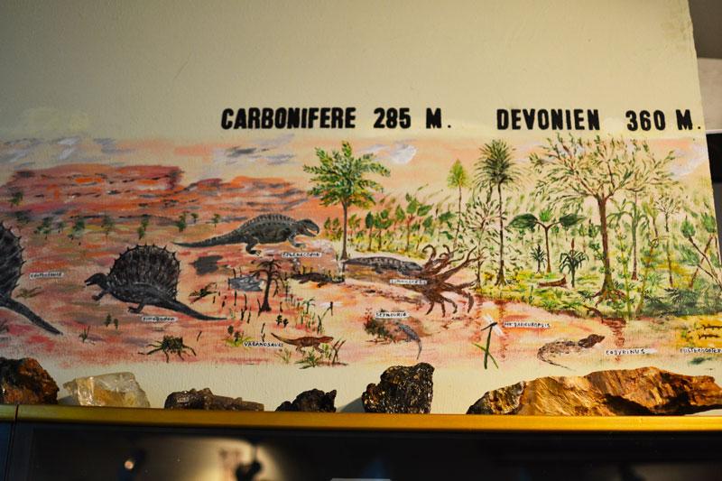 Les fresques historiques du musée à Vermand