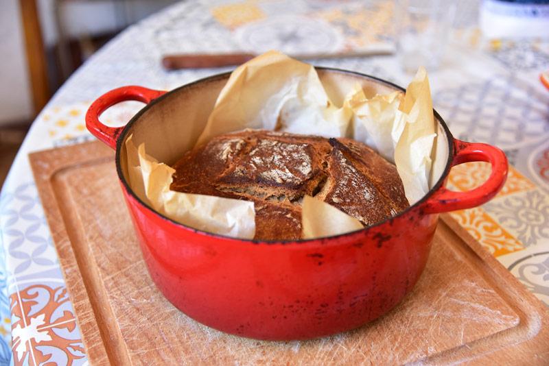 faire son pain en cocotte Le Creuset
