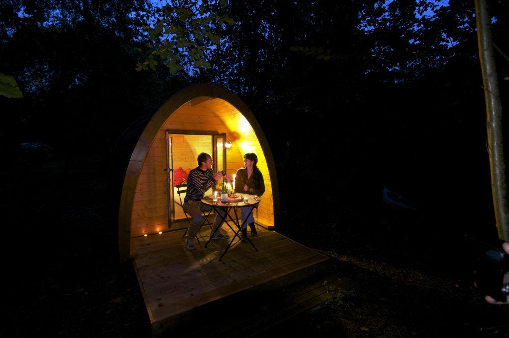week-end romantique dans une cabane